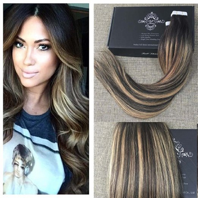 Full shine balayage 2327 multi color tape in human hair full shine balayage 2327 multi color tape in human hair extensions peruvian remy ombre tape in human hair extensions weaving in skin weft hair extensions pmusecretfo Images