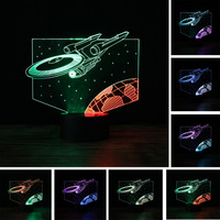 Star Wars 3D Light Star Trek Mixed Color Decor Bulbing Lamp LED Home Night Light for Child Gift RGB 7 Colors Change Luminaria