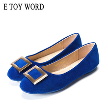 E TOY WORD Women Flats Slip-On Shoes Fashion metal buckle shallow mouth Casual Shoes Women comfortable woman low shoes candy colors women flats shoes low shallow mouth loafers work shoes pregnant women shoes large size 42 women casual shoes