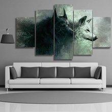 5 pcs,Full Square 5D DIY Diamond Painting Wolves Full diamond Embroidery mosaic Cross Stitch Rhinestones Y1015