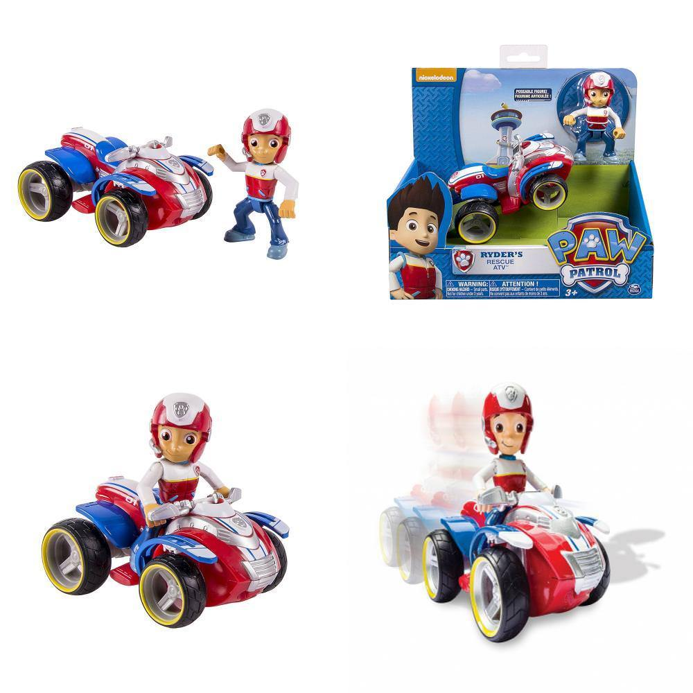 Image 4 - Genuine Spin Master Paw Patrol RESCUE RACERS VEHICLE Skye's High Flyin Copter Ryder's Rescue ATV Vehicle and Figure children toy-in Action & Toy Figures from Toys & Hobbies