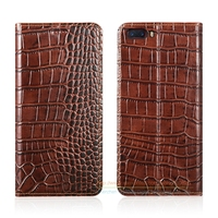 Crocodile Ziarna Skórzana Case Do ZTE Nubia M2 5.5