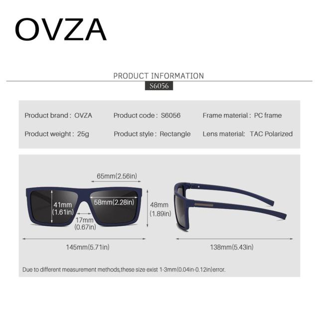 OVZA Polarized Flat Top Designer Sunglasses 4
