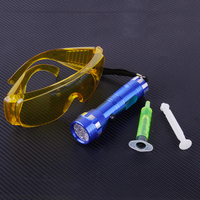 CITALL Car 14 LED Flash de Luz de Segurança Óculos Com Fluorescente Óleo Ar Condicionado A/C Gás Vazamento de UV de Diagnóstico Kit de detecção de