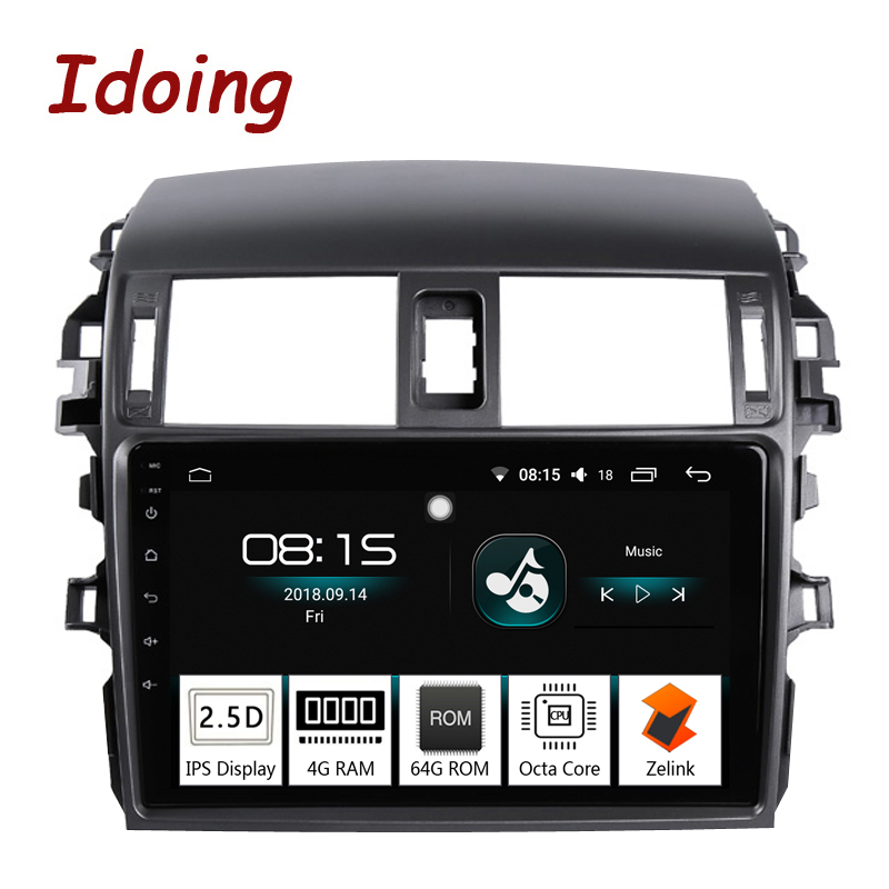 Idoing 9 4G 64G 2 5D IPS Screen Octa Core Car Android8 0 Radio Player Fit