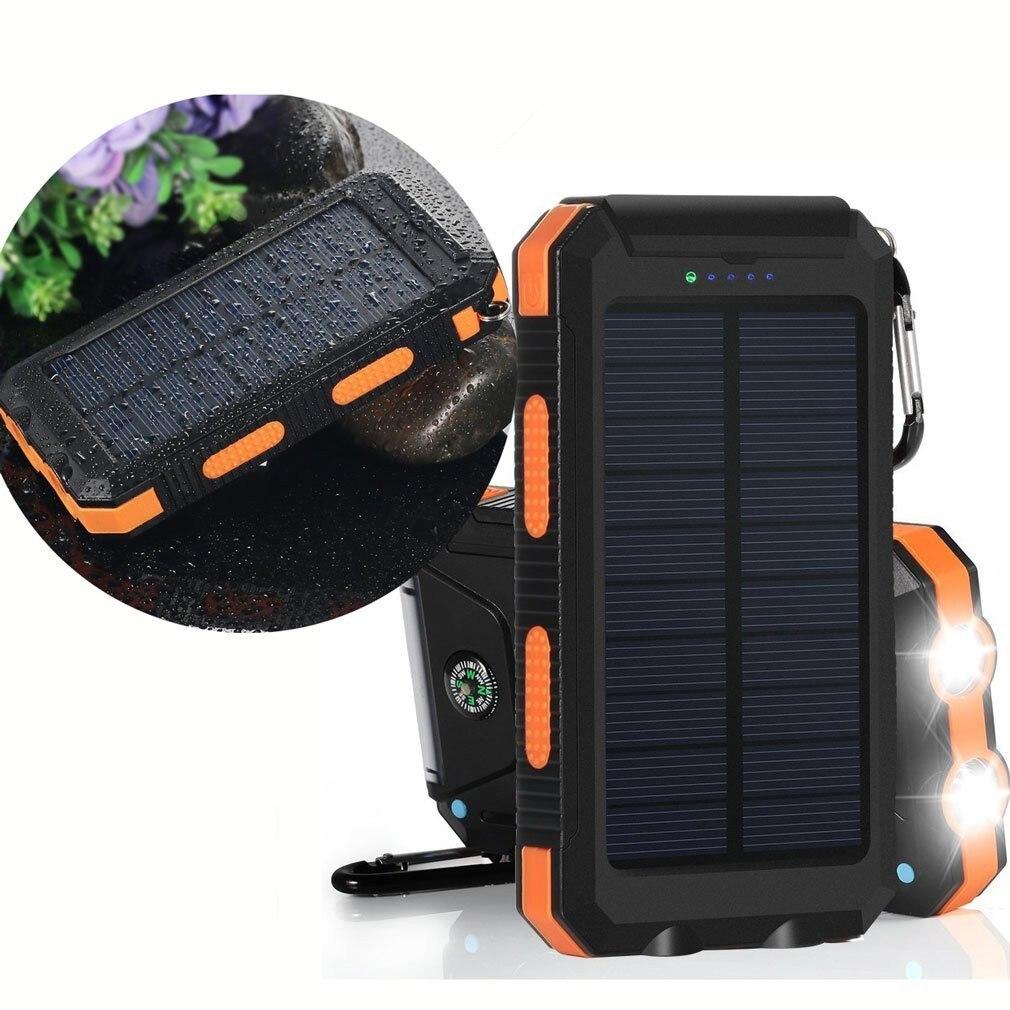 Akaso solar 20000 mAh F5S para todo el teléfono cargador de batería portátil para el teléfono móvil