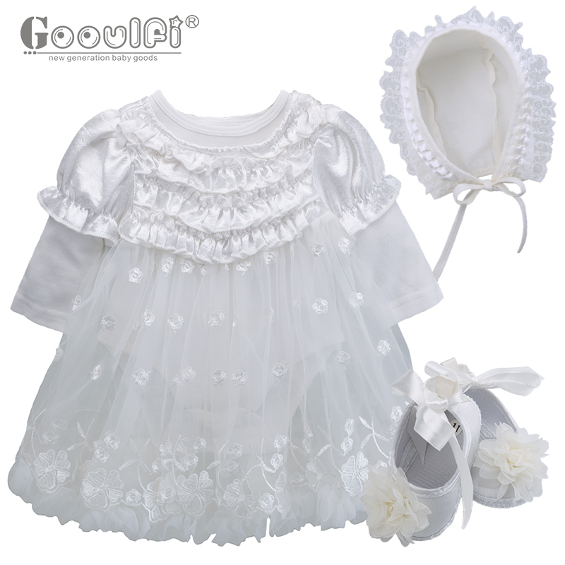 Gooulfi Baby Clothing Sets 4pcs newborn infant baby girls clothes Lace Floral Solid White Ruffle Tutu Dress Baby Girl Gooulfi Baby Clothing Sets 4pcs newborn infant baby girls clothes Lace Floral Solid White Ruffle Tutu Dress Baby Girl