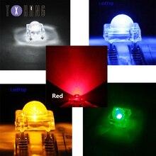 20/50/100 шт 5 мм Пиранья белый/красный/синий/зеленый/желтый прозрачный клавишу F5 светодиодов свет лампы красочный