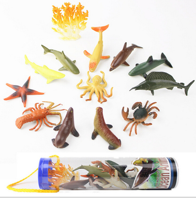 US $4 81 |12PCS Plastic Ocean Wild Farm Animals Model Kids Toys Play Set  Kid's Toy Collection of Hobby Decoration Decoration Craft Gifts-in Blocks