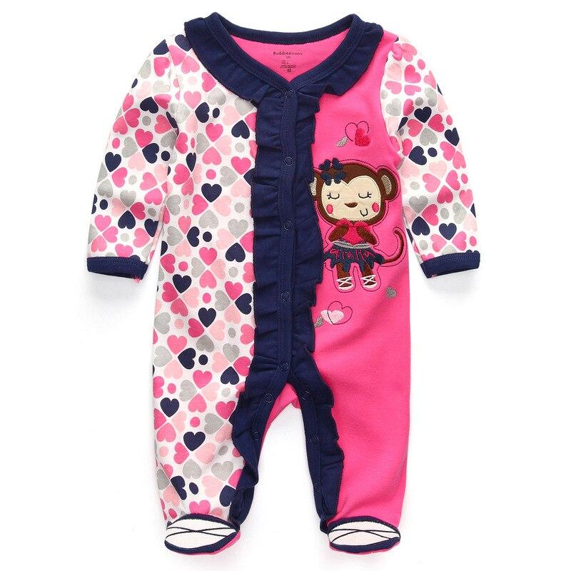 Для маленьких девочек сна; одежда для сна с мультяшным рисунком для малышей Детские пижамы хлопок Длинные рукава Детские пижамы с надписью «i love daddy» детские комбинезоны с рисунками - Цвет: baby deer