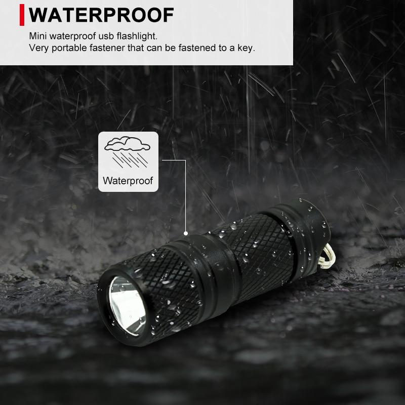 built-in battery micro usb flashlight mini torch flash light 4