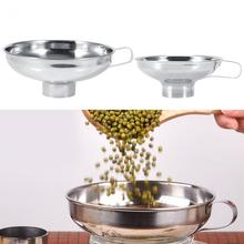 Hopper Kitchen with Handle Cooking-Tools Funnel Stainless-Steel Wide-Mouth