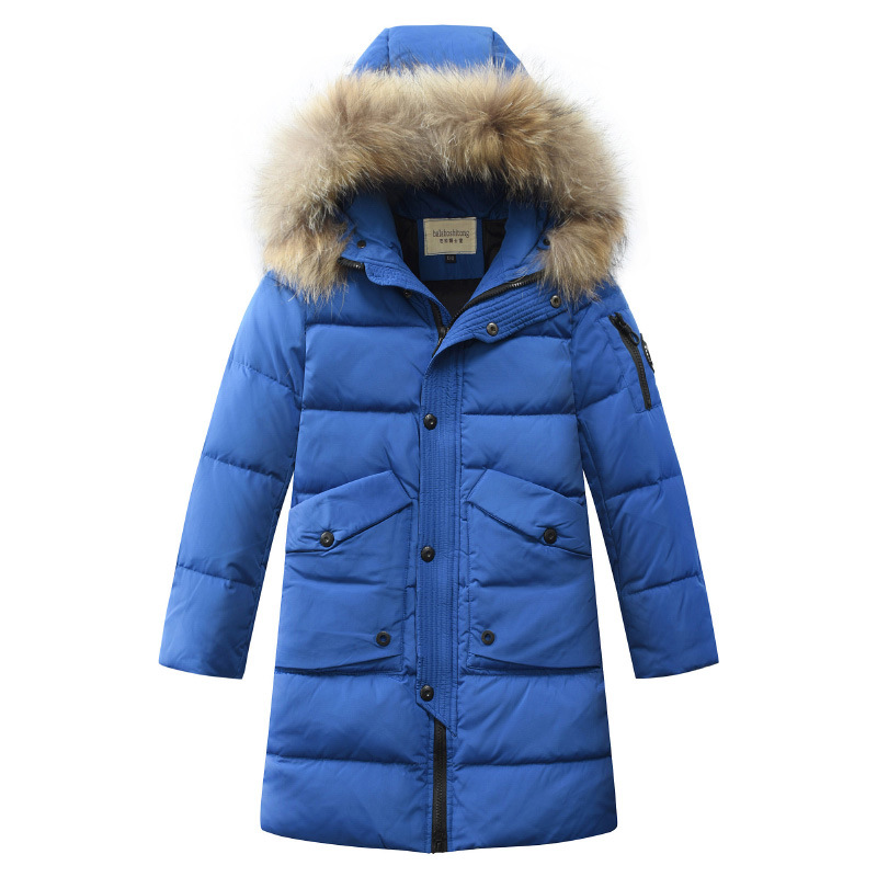 цена на -30 Degrees Boys Clothing Warm Down Jacket for Boys Clothes 2018 Winter Thicken Parka Real Fur Hooded Children Outerwear Coats