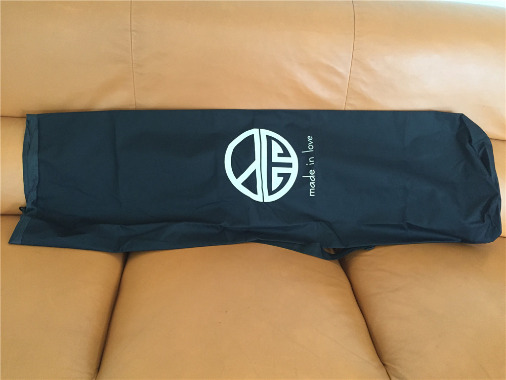 Купить с кэшбэком Length 110/120cm Longboard Skateboard Shoulder Backpacks Black Canvas Carrying Bags with Drawstring