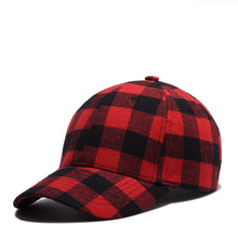 2018 New Plaid Baseball Caps Men Women Fashion Snapback Hats Cotton Red Blue Gray Green Cap Bone