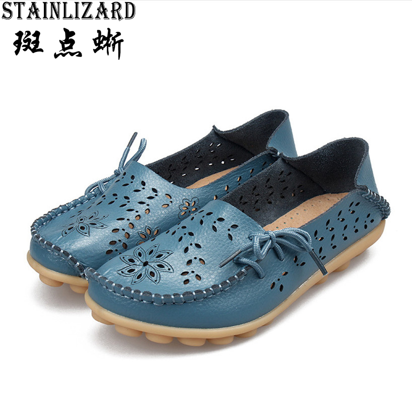 2017 New Solid Women Flats Fashion Comfortable Moccasins Loafers Wild Cut Outs Women Casual Shoes Classic