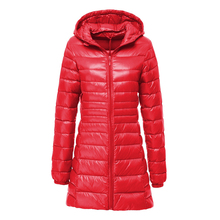 New Winter Long Down Jacket Women Casual Slim Warm Ultra Light Hooded Coat Female White Duck Down Parkas Women Outwear 5XL 6XL