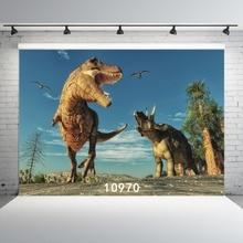 Arrière plans photographiques de dinosaure décors en tissu de vinyle Photocall pour enfants pour les Studios de Photo