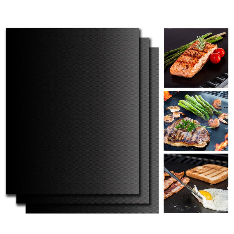 Grill Accessory Non-stick Teflon BBQ Grill Mat Heat Resistance Easily Cleaned Dustproof  Barbeque Barbecue Mesh BBQ Accessories