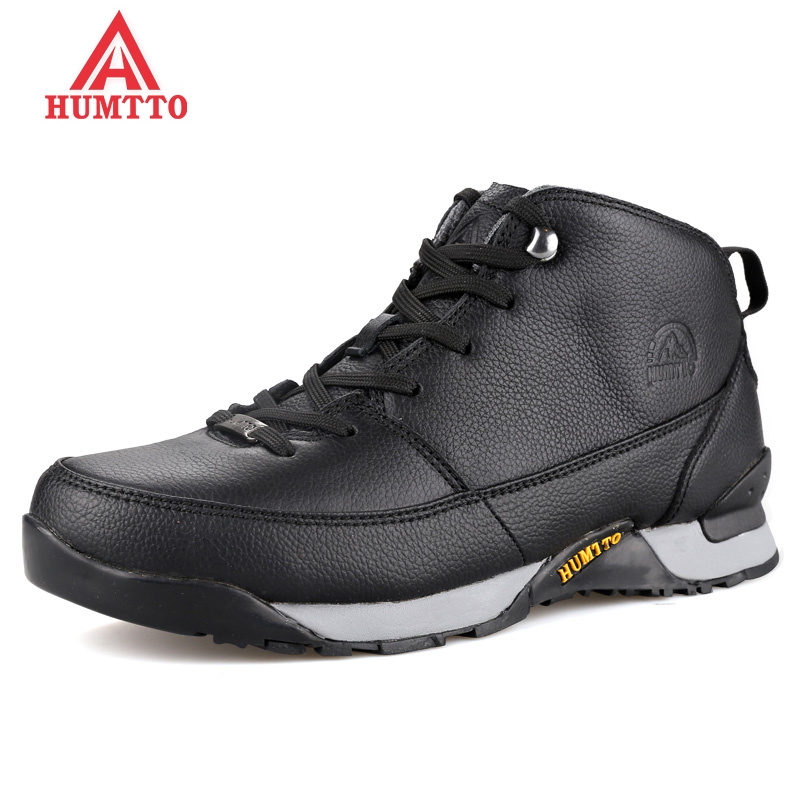 New Arrival Hiking Shoes Men Lace-up Winter Outdoor Sneakers Genuine Leather Climbing Boots Breathable Sport Hunting Mountain peak sport men outdoor bas basketball shoes medium cut breathable comfortable revolve tech sneakers athletic training boots