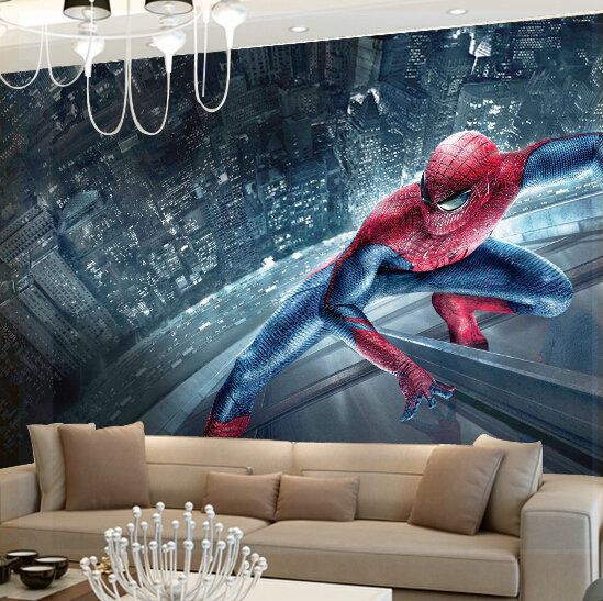 Spiderman Wall Mural custom any size 3d wall mural wallpapers ,spider man movie picture