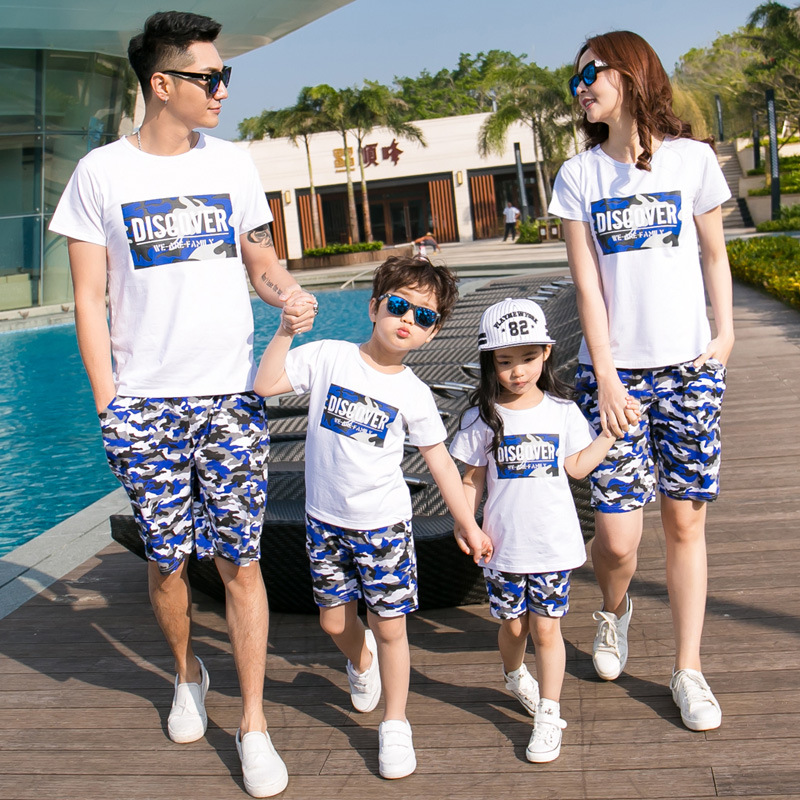 2018 summer new family matching outfit family clothing set