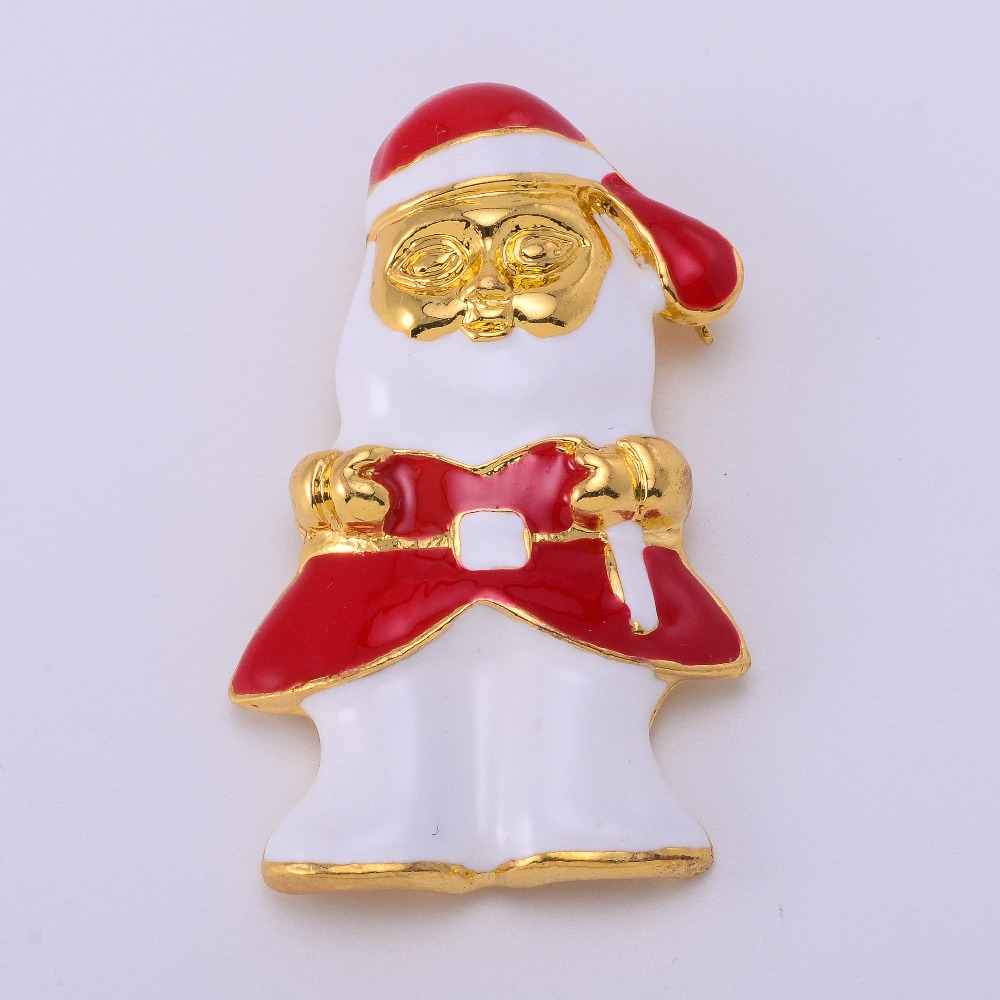 ✓Merry Christmas Snowman Gold Crystal Brooches For Women Vintage ...