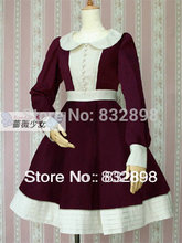 Custom Made Japan Cheap Warm Cotton Winter  Sailor Lolita Dress Girls  Brand Long Winter Coat