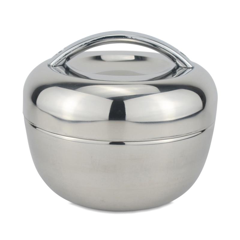 Sanqia 1.3l Apfelform Wärmedämmung Edelstahl Lunchbox Bento Lebensmittelbehälter Lebensmittel Lagerung Tiffin Box Geschirr Set