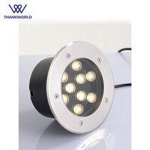 トップ販売凹型ledフロアライト9ワットガーデンライト屋外inground照明110ボルト220ボルトledステップライト風景地面ランプ