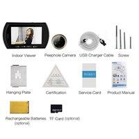 4.3 inch video eye door peephole camera 1.0 Megapixels door camera PIR Motion Sensor IR Night vision NO Disturb Mode door viewer