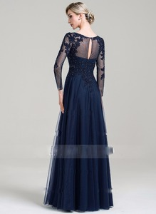 Image 4 - Scoop Neck A Line Floor Length Tulle Mother of the Bride Dress with Beading Sequins for Wedding Party Custom Made