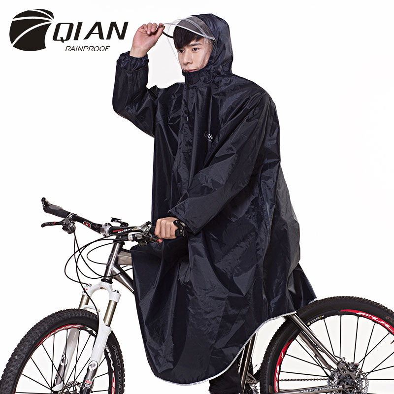 Image 4 - QIAN RAINPROOF Professional Adult Long Thicker Raincoat With 