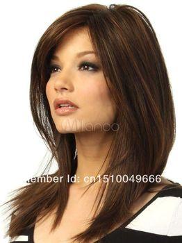 LIBERA LA NAVE>>> Cosplay Parrucca Marrone Lungo Rettilineo Parrucche Dei Capelli Sexy Donna Parrucche