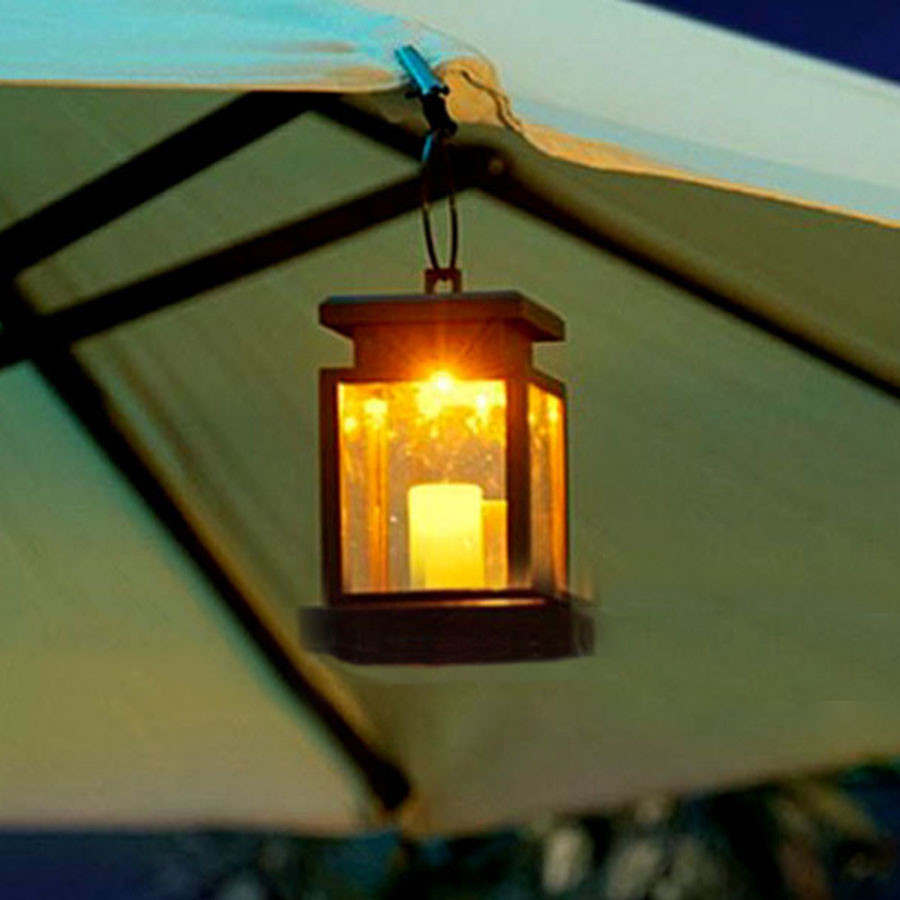 Hanging outdoor candle lanterns for patio - Thrisdar 4pcs Lot Solar Led Garden Hanging Candle Light Outdoor Solar Lantern Ball Patio Pathway