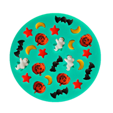 Halloween Cartoons With Moons Stars Pumpkins Ghosts Bats Silicone Fondant Cake Molds william alton living with ghosts