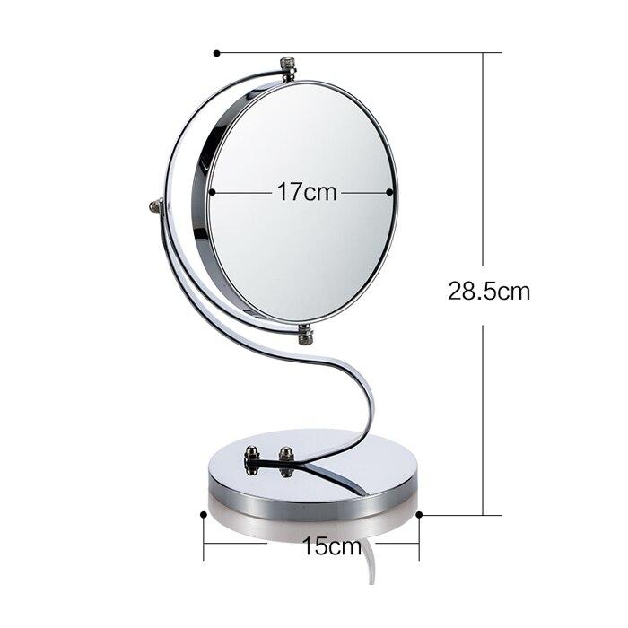 Miroir De Table A Miroir Grossissant Double Face Mignon Et Courbe Miroir De Maquillage Avec 1 X 3x Et Grossissement Comptoir De Vanite 7 Pouces Aliexpress