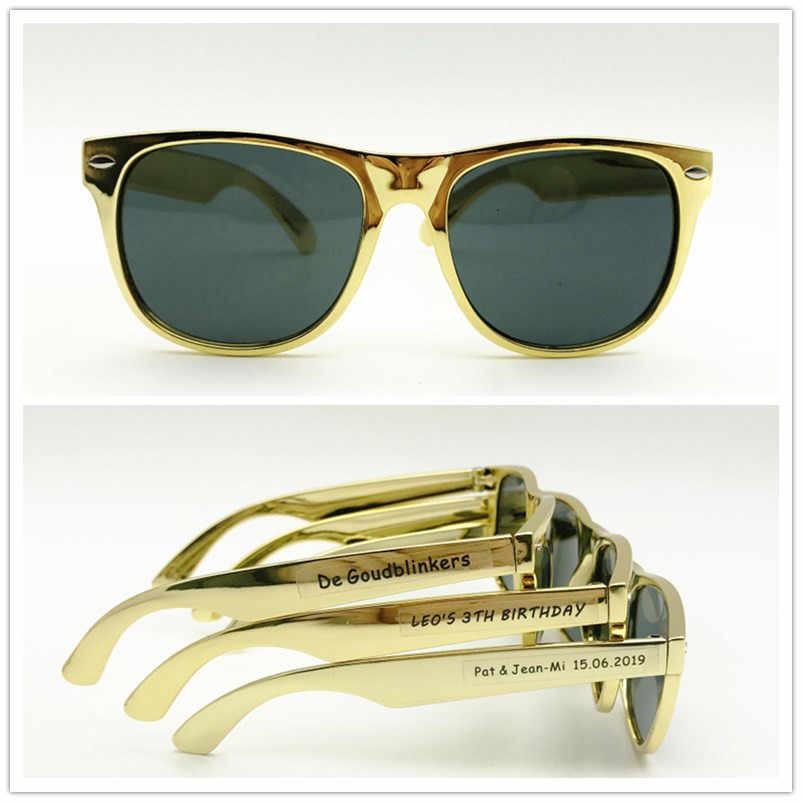 2e56e39e4b 24 pairs Fashion Cheap Sunglasses Personalised Wedding Gold Sunglasses  Party Favours Wedding Gifts for Guests Baby