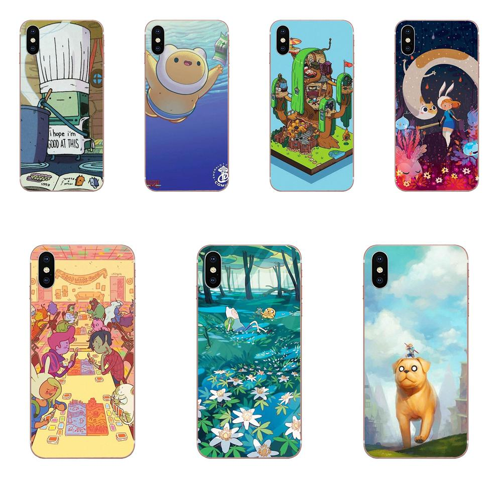 All Character Adventure Time Soft Phone Covers Case For Samsung Galaxy Note 5 8 9 S3 S4 S5 S6 S7 S8 S9 S10 mini Edge Plus Lite image