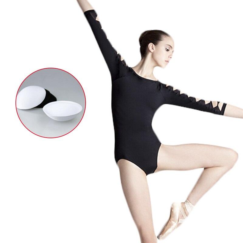 Sexy Backless Unitard Adult Girl Black 3 4 Long Sleeve Dance Practice Leotard Cotton Spandex Gymnastic