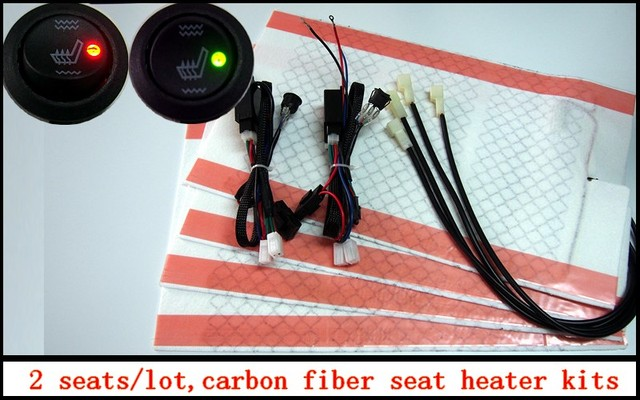 2 seats/lot, carbon fiber seat heated pads, carbon fiber car seat ...