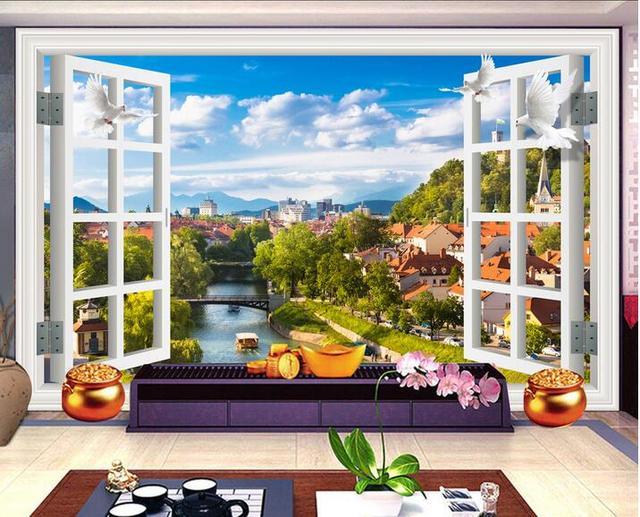 Benutzerdefinierte foto 3d tapete wandaufkleber Europäischen stadt
