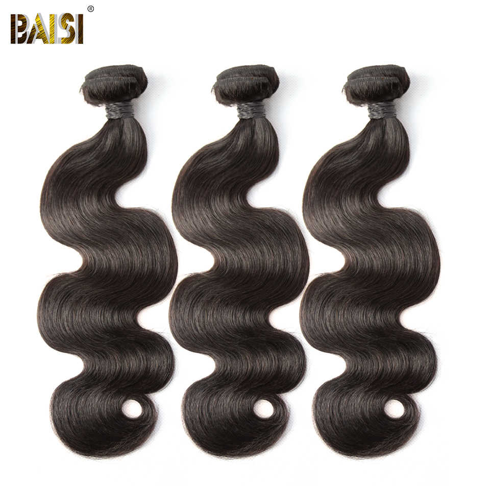 BAISI Hair Peruvian Body Wave 8A Remy Hair Weave 1 Bundle 100% Human Hair Extensions