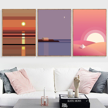 Minimalist Scenery Landscape Nordic Poster And Prints Wall Art Canvas Painting Pictures For Living Room Scandinavian Decor