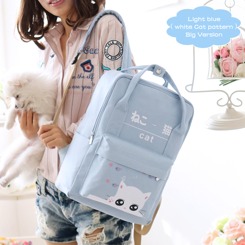 2017 Spring Fashion Fresh Preppy Style Canvas Polyester School Girl Student Backpack Women Backpacks for Teenage