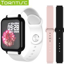 Torntisc B57 kobiety smart Watch dla systemu Android Apple Watch IP67 wodoodporna tętno inteligentna bransoletka ciśnienie krwi Smartwatch mężczyzn tanie tanio Torntisc (w) Brak 128 MB Passometer Naciśnij wiadomość Tętna Tracker Budzik Tracker fitness Wiadomość przypomnienie
