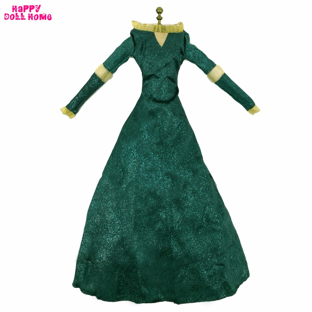 Fashion Fairy Tale Princess Dress Copy Brave Merida Outfit Exotic Long Sleeves Clothes For 17 Doll Pretend Play Accessories Toy светильники trousselier абажур princess fairy 34х22 см