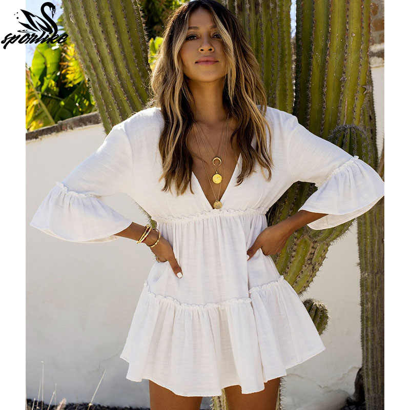 White Beach Dress Cover up Caftani Sarong Costume Da Bagno Cover up Beach Parei Costume Da Bagno Cover up Delle Donne di Nuotata Della Spiaggia di Usura tunica