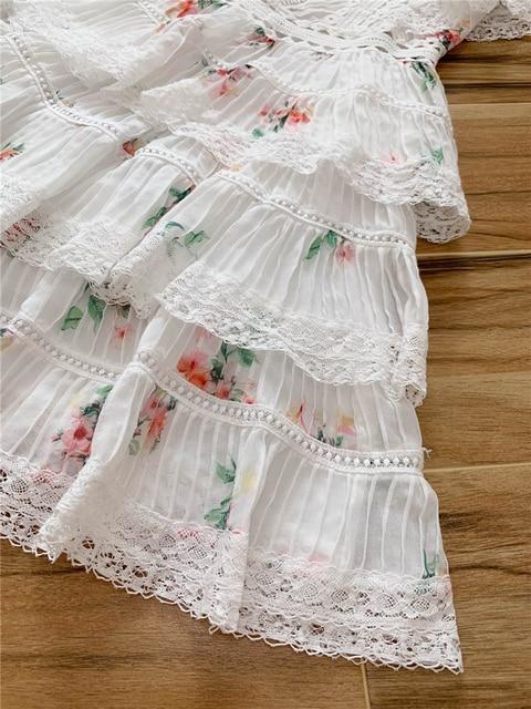 2020 Elegant Printed Mini Dress with Ruffles 6