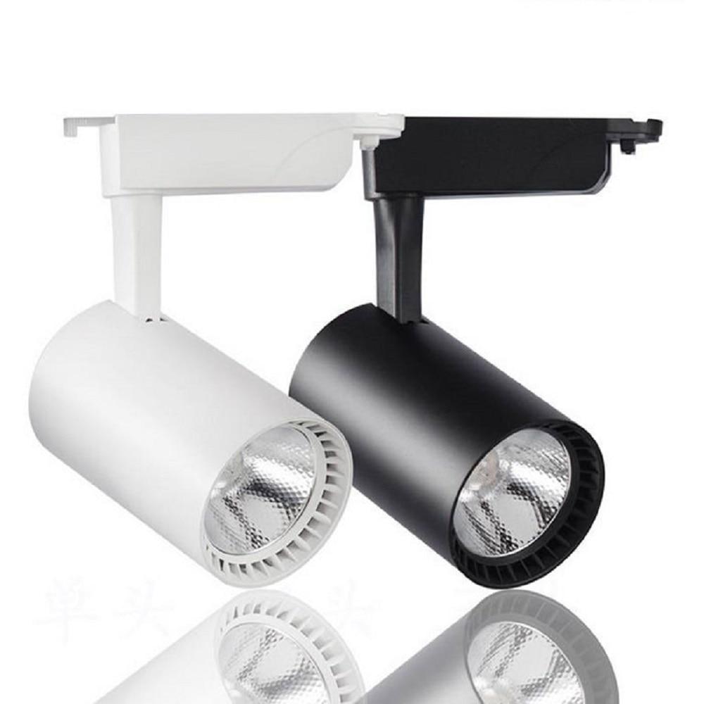 10W 20W 30W COB Led Track light 360 degree Rotated Ceiling Rail Track lighting Spot Rail